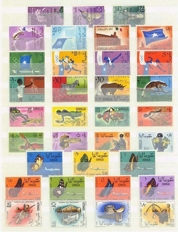 SOMALIA 1960 bis 1966, mit Michelnummern 1-3!!
