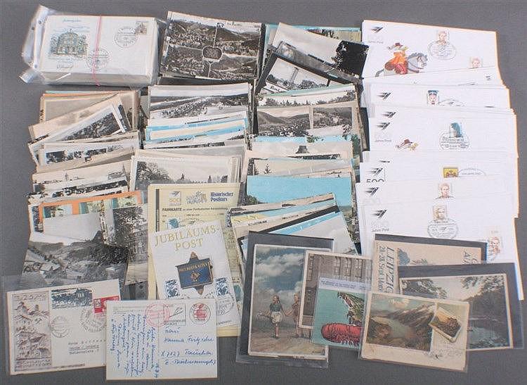 BELEGEPOSTEN vom Deutschen Reich mit Ansichtskarten bis