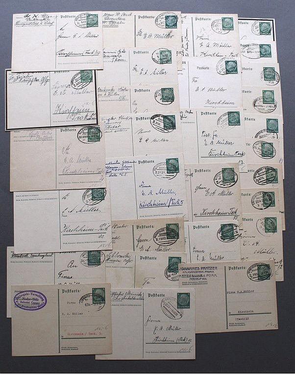 1933-1935 Deutsches Reich BAHNPOST, Heimat KIRCHHEIM TECK