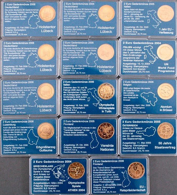 Konvolut 2-Euro Gedenkmünzen