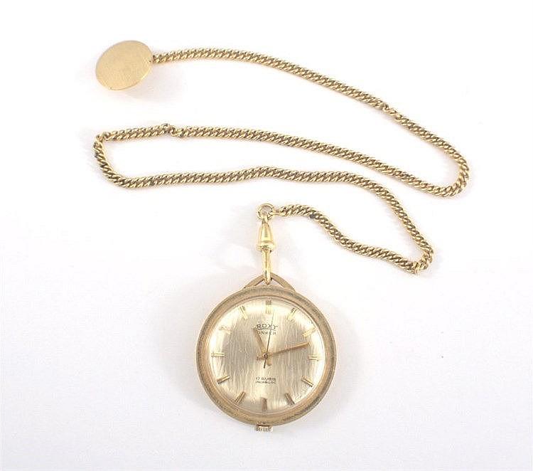 Damen Taschenuhr 585 Gold 14 ct, Roxy Anker