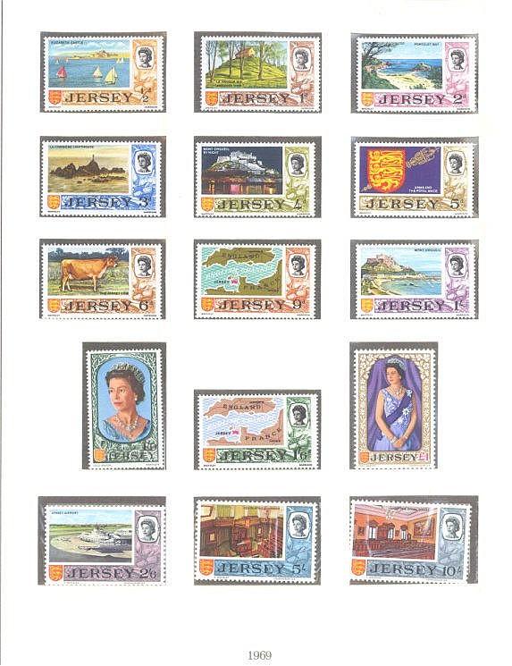 JERSEY 1969-1972, Katalogwert über 200,- Euro