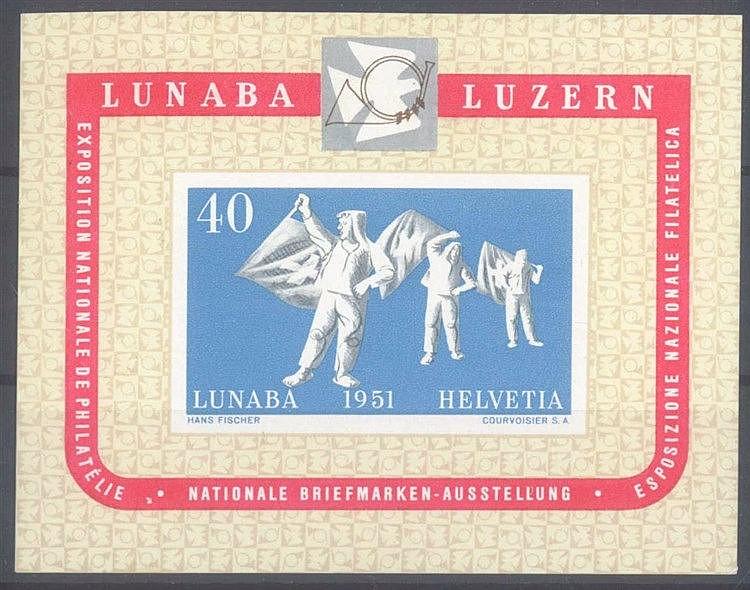 1951 SCHWEIZ, LUNABA - Block