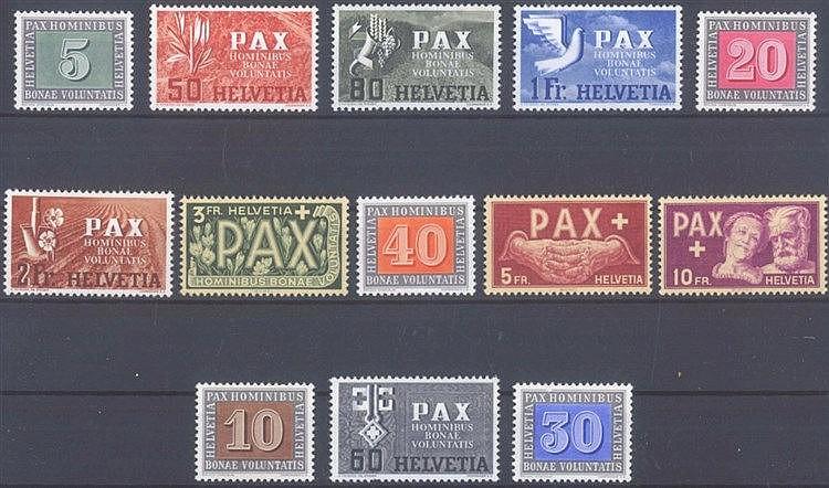 1945 SCHWEIZ, PAX - Satz