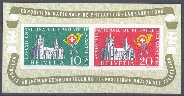 1955 SCHWEIZ, LAUSANNE - Block