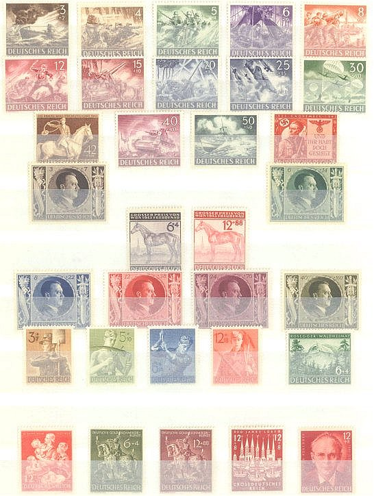 1942/43 DEUTSCHES REICH, postfrisches Lot mit Michelnummern