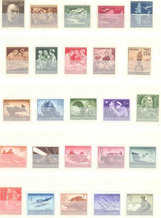 1944/45 DEUTSCHES REICH, postfrisches Lot mit Michelnummern