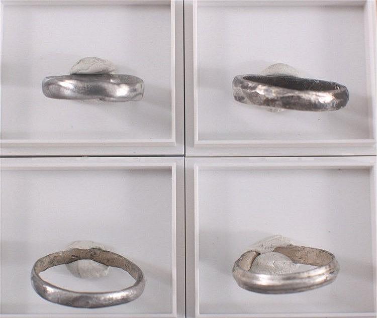 4 Römische Silber Ringe
