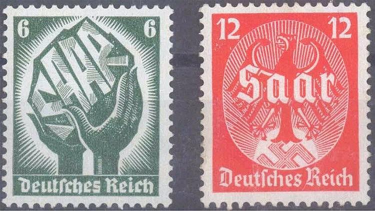 1934 DEUTSCHES REICH, Saarabstimmung