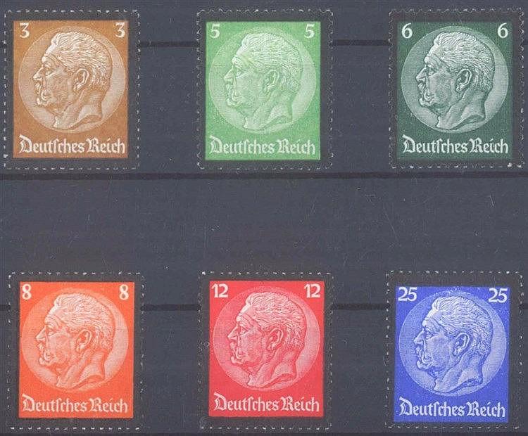 1934 DEUTSCHES REICH, Hindenburg Trauerrand