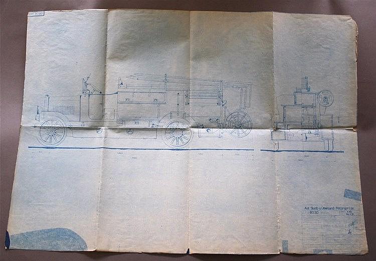 MOTIV FEUERWEHR, 1921 Aut. Stadt-u. Überland-Motorspritze