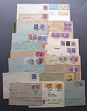 1945-1946 BIZONE, AM-POST, Bedarfsbelege - dabei ZENSUR
