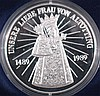Silber Medaille 500 Jahre Wallfahrt Altötting 1989