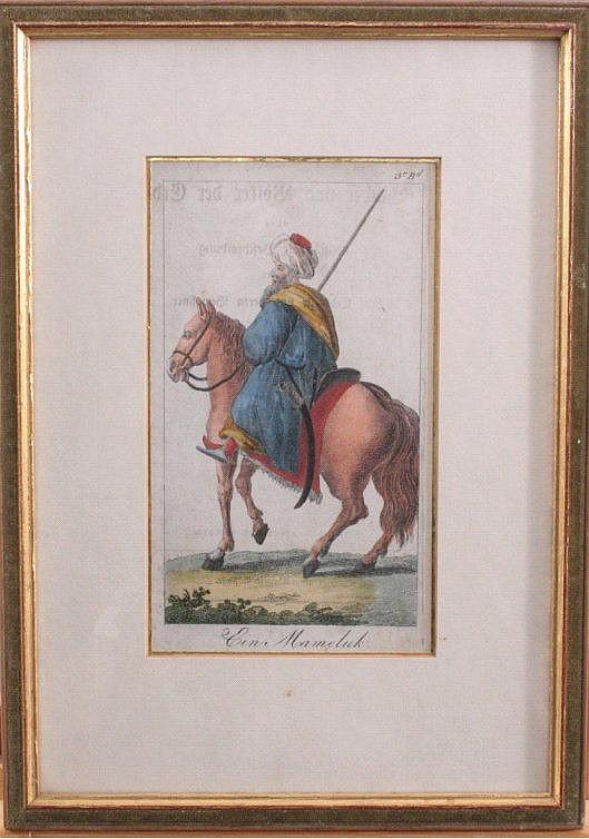 Kupferstich, 'Ein Mameluk', handcoloriert