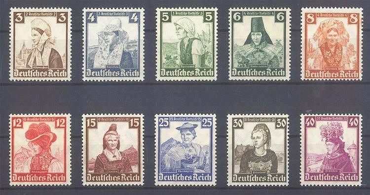 1935 DEUTSCHES REICH, Nothilfe - Volkstrachten