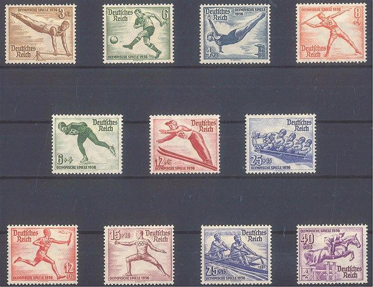 1935-1936 DEUTSCHES REICH, Olympiaden