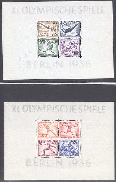 1936 DEUTSCHES REICH, Das Olympiade - Blockpaar
