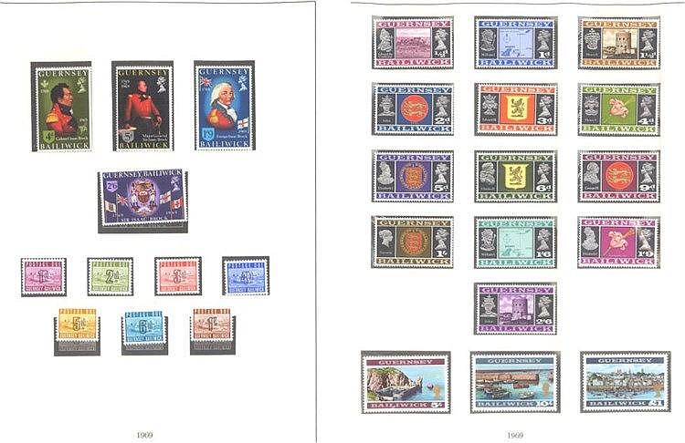 GUERNSEY 1969-1972, Katalogwert fast 240,- Euro
