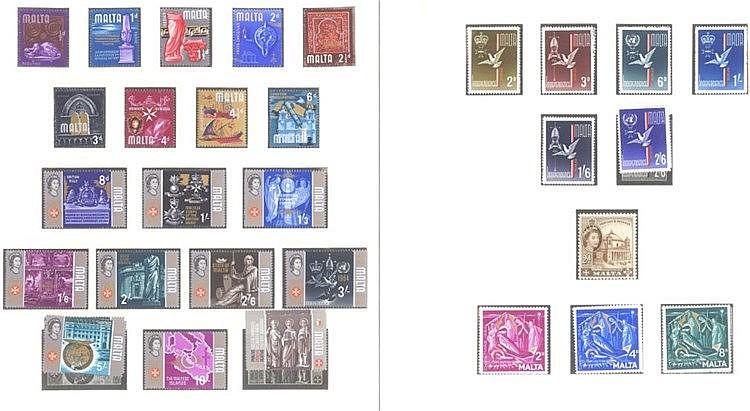 MALTA 1964-1972, Katalogwert 250,- Euro