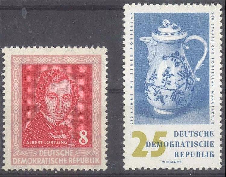 1952 DDR, 8 Pfennig Lortzing mit WZ Y II, KW 140,- Euro