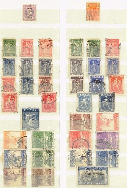 GRIECHENLAND 1911-1944, gestempelte Sammlung