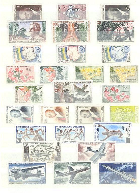 GABUN 1959 bis 1966, ab INNERE AUTONOMIE, mit 233!!