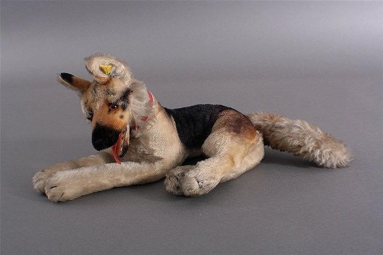 Steiff, großer alter Schäferhund Arco