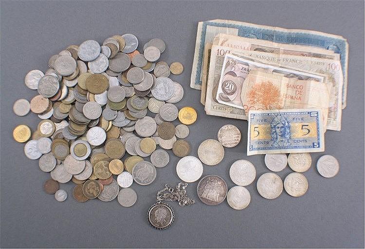 Konvolut Münzen und Geldscheine