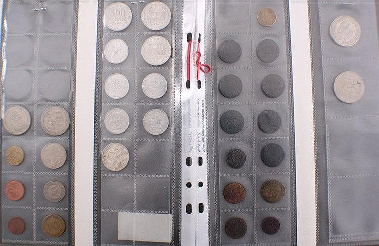 Konvolut Münzen, 32 Stück