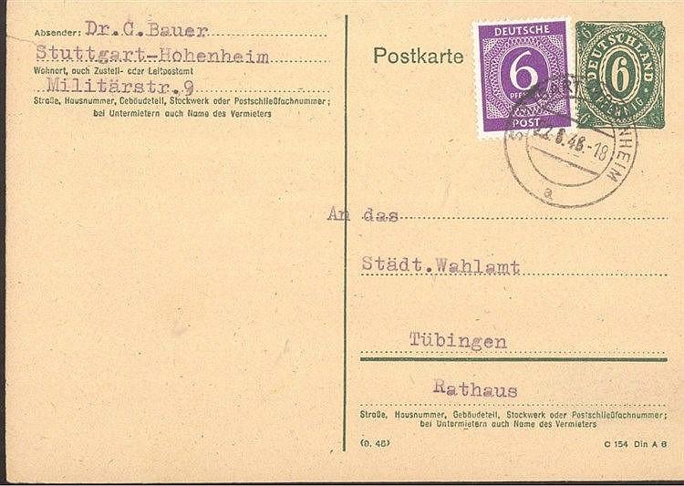 1946 Dr. CARL BAUER, ORIGINAL-Unterschrift