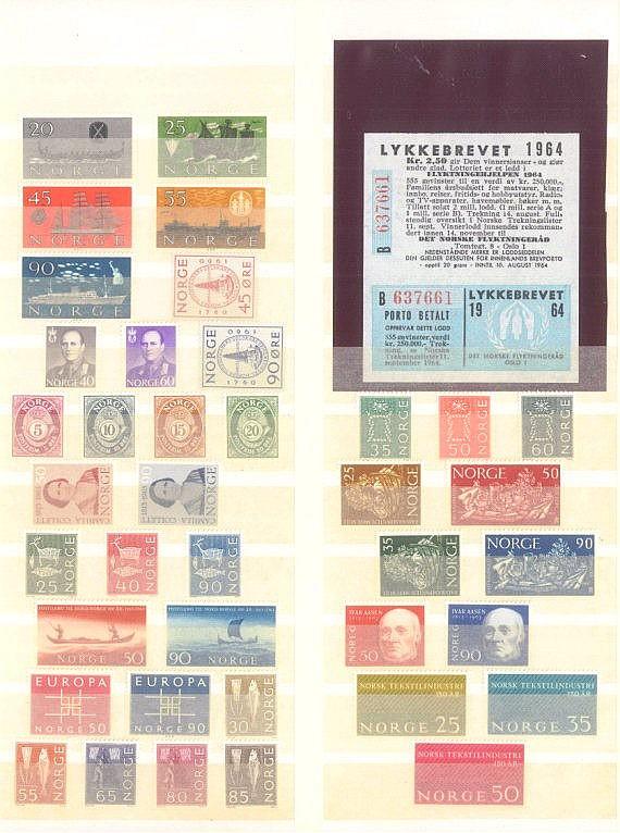 NORWEGEN 1962-1964 mit seltener Michelnummer 518!!