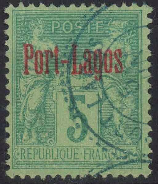 1893 FRANZÖSISCHE POSTDAMPFER-AGENTUREN - PORT LAGOS