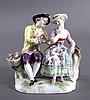 Meissen, Figurengruppe 'Sitzendes Gärtnerpaar'