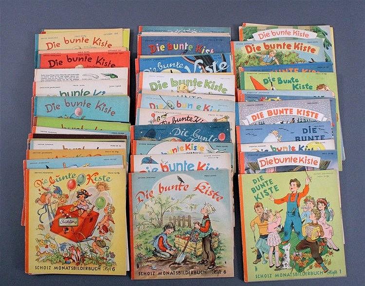 Konvolut Hefte Die bunte Kiste, 1946-1955