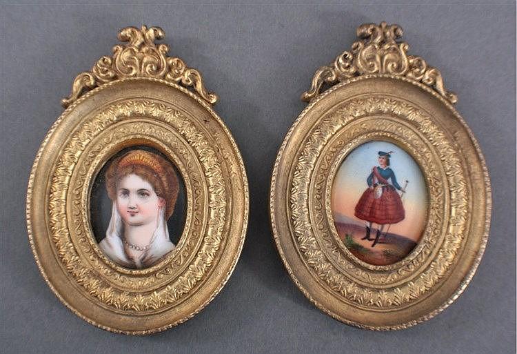 Zwei Miniatur Porzellanmalereien 19. Jh.