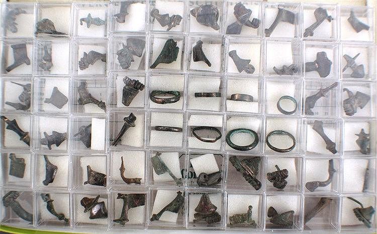 60 Römische Schmuckteile aus Bronze
