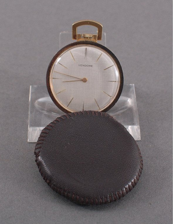 Herrentaschenuhr Stowa 'Vendome', 750/000 GG