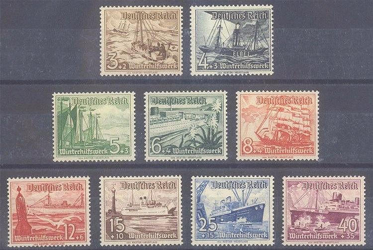 1937 DEUTSCHES REICH, Winterhilfswerk - Schiffe