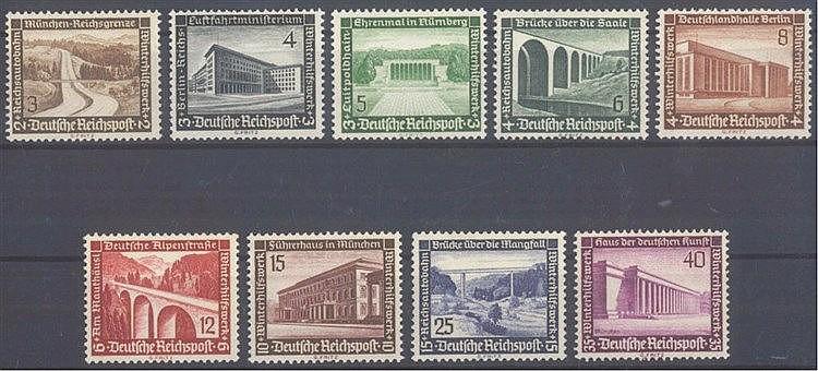 1936 DEUTSCHES REICH, Winterhilfswerk - Moderne Bauten