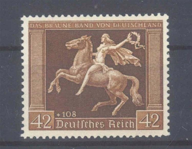 1938 DEUTSCHES REICH, Braunes Band