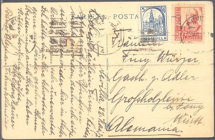 1937 SPANIEN BÜRGERKRIEG SEVILLA