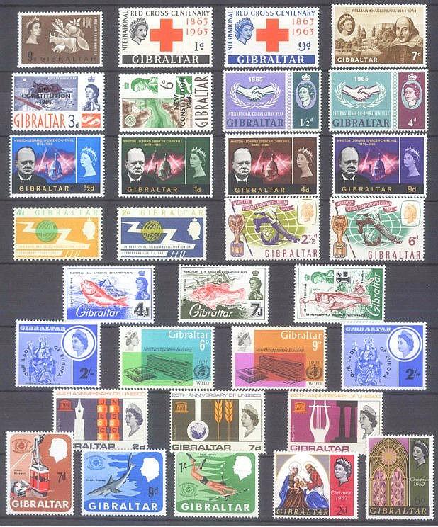 GIBRALTAR 1963-1972 Katalogwert 235,- Euro