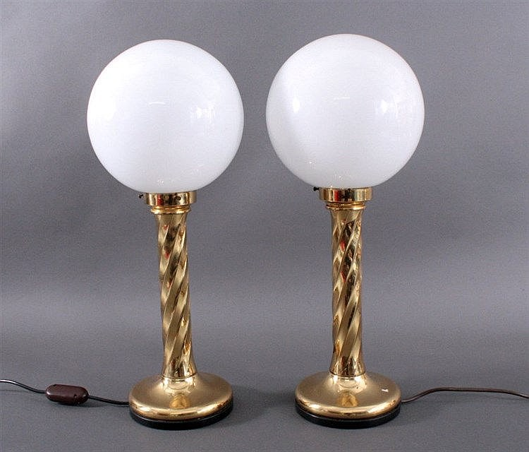 Paar Tischlampen 1. Hälfte 20. Jh.