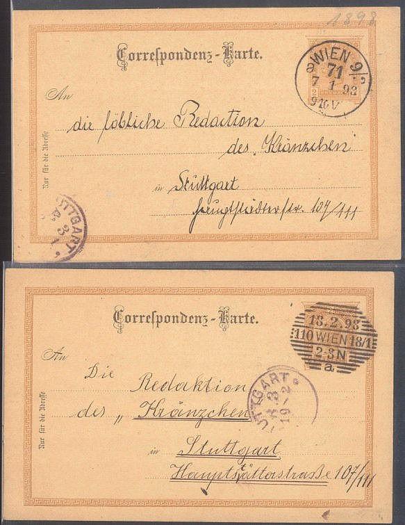 ÖSTERREICH-STUTTGART Union Deutsche Verlagsgesellschaft 1898