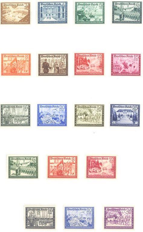 1939/1941 DEUTSCHES REICH,Kameradschaftsblock der Post I+II