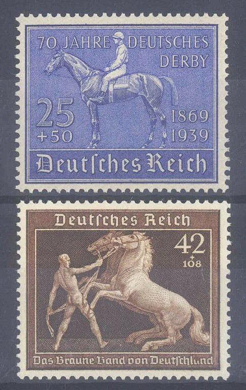 1939 DEUTSCHES REICH, Blaues und Braunes Band