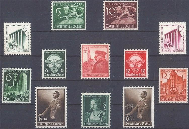 1939 DEUTSCHES REICH, postfrisches Lot mit Michelnummern