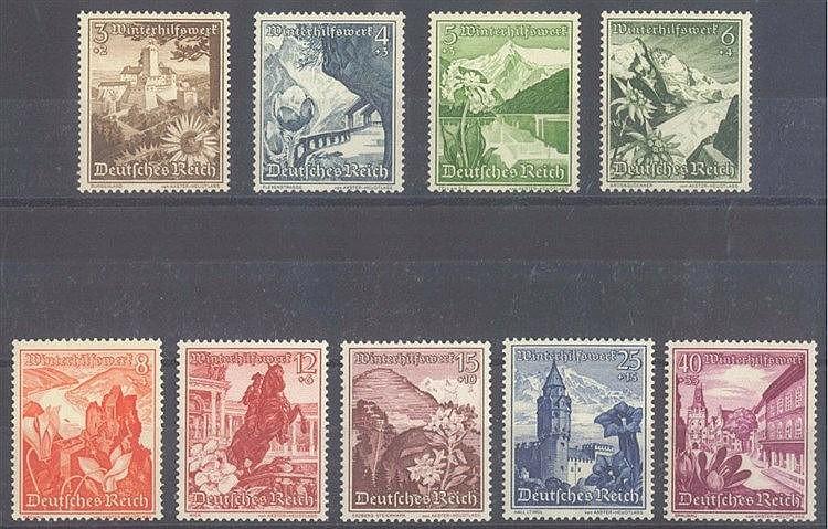 1938 DEUTSCHES REICH, Winterhilfswerk - Ostmark