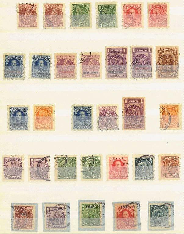 KRETA 1900-1910, interessante gestempelte Sammlung