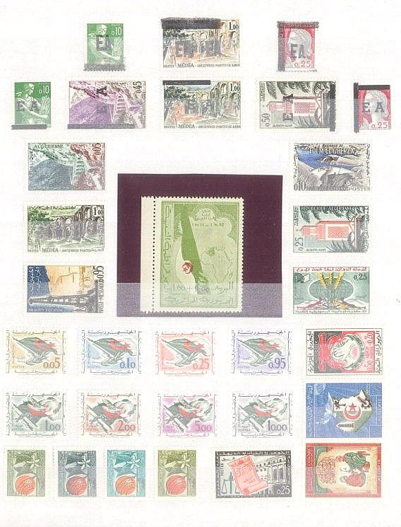 ALGERIEN 1962 bis 1966, ab SELBSTSTÄNDIGE REPUBLIK mit 393!!